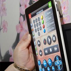 Convenient iPad controls