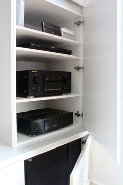 Sleek storage cabinetry